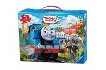 Thomas & Friends Circus Fun Floor Puzzle in a Suitcase Box, 24-Piece
