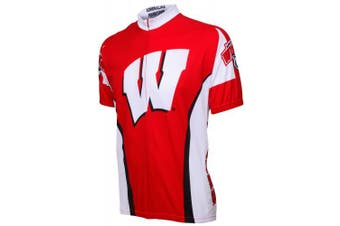 (Small, Red) - Adrenaline Promotions Wisconsin Cycling Jersey,Small, Red