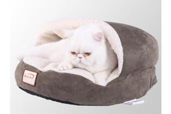 Armarkat Cat Bed - Laurel Green & Ivory