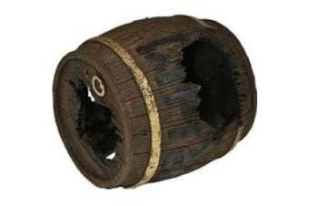 Blue Ribbon Pet Products 006038 Exotic Environments Rum Barrel Horizontal