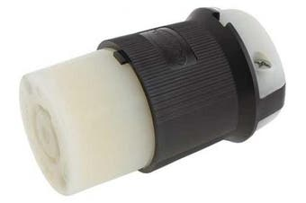 HUBBELL WIRING DEVICEKELLEMS HBL2413 Connector,125/250VAC,20A,L1420R,3P,4W