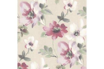 (violet) - Brewster 2532-20449 Lynette Violet Watercolour Floral Wallpaper