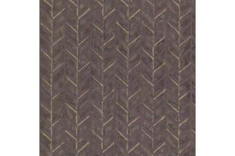 (purple) - Brewster HZN43066 Foothills Purple Herringbone Texture Wallpaper