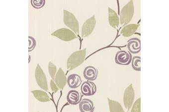 Brewster 2532-20410 Geisha Violet Floral Trail Wallpaper