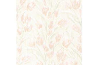 (blush) - Brewster 2532-20471 Jessamine Blush Tulips Wallpaper