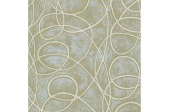 (green) - Brewster HZN43025 Novia Green Geometric Swirl Wallpaper