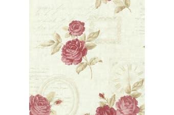 (mint) - Brewster 2532-20452 Venetia Mint Vintage Rose Toss Wallpaper