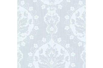 (Light Blue) - Brewster 2614-21055 Lourdes Light Blue Damask Medallion Wallpaper