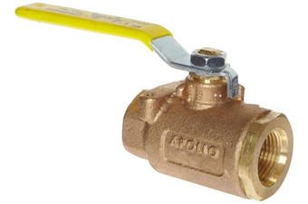 (Straight Thread Female, 1, 77-907-01) - Apollo 77-900 Series Bronze Ball Valve with Actuator Mounting Pad, Two Piece, Inline, Lever, 2.5cm - 1.3cm Straight Thread Female