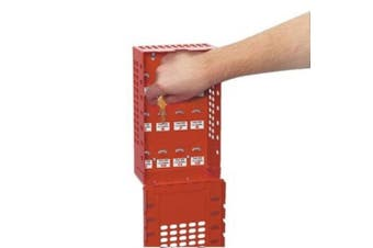 (1, 503RED, Red) - Master Lock Group Lock Box for Lockout/Tagout, Steel, Red