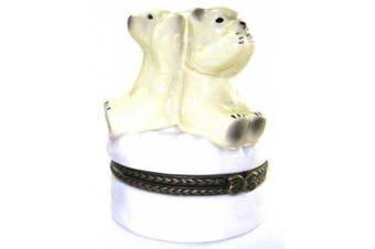 See No Hear Say Evil Polar Bears Trinket Box phb
