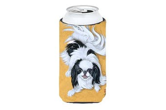 Japanese Chin Black White Play Tall Boy Beverage Insulator Hugger MH1034TBC