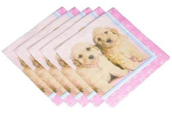(One Size, Multi-colored) - rachaelhale Glamour Dogs Lunch Napkins (20) Pink