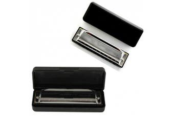 HDE Silver Swan Diatonic 10 Hole Key of C Blues Harmonica
