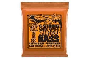 Ernie Ball 2838 Slinky Nickel Round Wound 6-String Electric Bass Strings