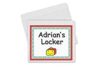 Self-Adhesive Labelling Pockets 9.5cm x 7.6cm 25/Pkg