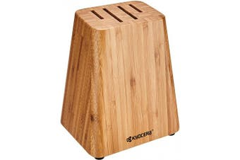 (BLOCK ONLY, Bamboo) - Kyocera KBLOCK4 4 slot Knife Block, BAMBOO