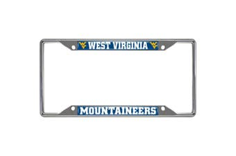 (West Virginia) - FANMATS Licence Plate Frames Ncaa - West Virginia University Licence Plate Frame Chrome 14943