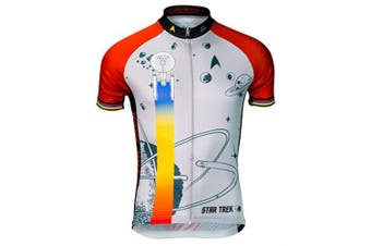 (red) - Brainstorm Gear Men's Star Trek Final Frontier Cycling Jersey - STF (Red - Medium)