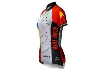(red, medium) - Brainstorm Gear Women's Star Trek Final Frontier Cycling Jersey - STF (Red - Medium)
