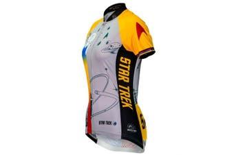 (gold, 2xl) - Brainstorm Gear Women's Star Trek Final Frontier Cycling Jersey - STF (Gold - 2XL)