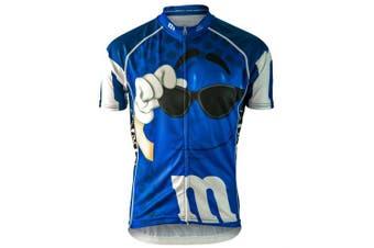 Brainstorm Gear 2015 Women's M & Ms Blue Cycling Jersey - MMBL-W (Blue - L)