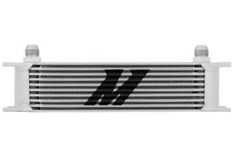 (Silver) - Mishimoto MMOC-10 Universal Oil Cooler 10 Row