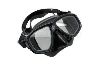(+2.0) - Scuba Choice Scuba Black Diving Dive Snorkel Mask Farsighted Prescription RX Optical Corrective FULL Lenses, +2.0