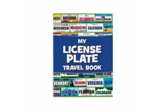 Fun Express Licence Plate Travel Sticker Book Game - 12 pieces