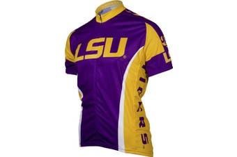 (Small, Louisiana State Fightin Tigers) - NCAA LSU Adrenaline Promotions Cycling Jersey, Small (purple/yellow)