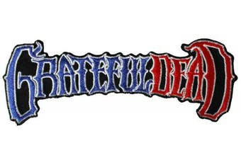 Grateful Dead Men's 50th Anniversary Logo RW & B Embroidered Patch Black