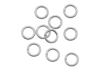 Sterling Silver Closed Jump Rings 5mm 21 Gauge (20)