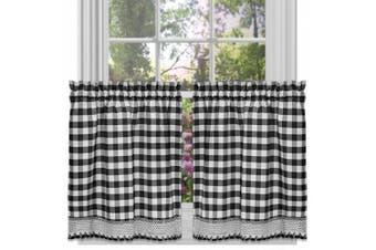 Curtain Tier Pair, Buffalo Cheque