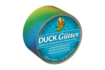 (Rainbow Ombre) - ShurTech Glitter Duck Tape 4.8cm x 4.6m, Rainbow Ombre