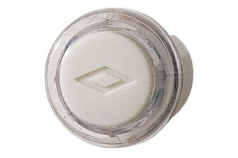 NuTone PB18LWHCL Wired Lighted Door Chime Push Button, Round, White Finish With Clear Bezel