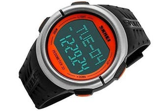 DSstyles Waterproof Heart Rate Monitor Pedometer Stopwatch Sports Watch - Orange
