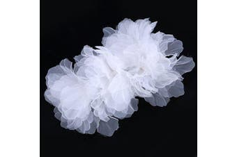 Bridal Wedding White Flowers Hair Clips - for Women Hair Clip Party Hair Accessory .