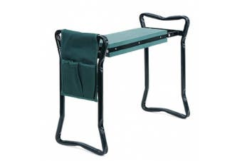 Songmics Foldable Kneeler and Garden Seat Portable Stool with EVA Kneeling Pad and Bonus Tool Pouch UGGK49L