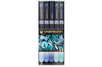 (5 Piece, Blue Tones) - Chameleon Art Products Blue Tones, 5-Pen Set, 1 Pack of 5
