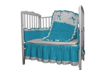 Baby Doll Regal Crib Bedding Set, Aqua