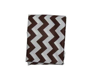 Baby Doll Chevron Fitted Sheet, Brown