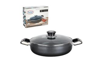 Aramco Alpine Gourmet Low Aluminium Non-Stick Coating Cooking Pot, 34cm , Silver/Grey