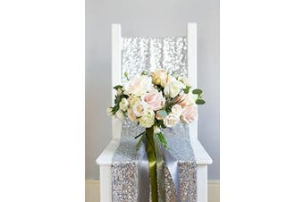 30cm *180cm silver Sequin Table Runner Sparkly Metallic Red Sequin Runner, Event Bridalwedding Runner, Birthday Party, Dinner Party, Additional Colours Available, Shower Ready to Ship!~m1013 (Silver #2)