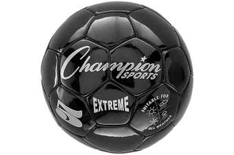 (Size 5, Black) - Champion Sports Extreme Series Composite Soccer Ball: Sizes 3, 4, 13cm Multiple Colours