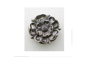 Tudor Rose pin badge fine english pewter handmade