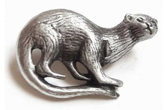 Otter Handcrafted From English Pewter Lapel Pin Badge + Gift Bag