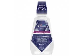 Crest 3D White Glamorous White Multi-Care Whitening Fresh Mint Flavour Mouthwash 946ML