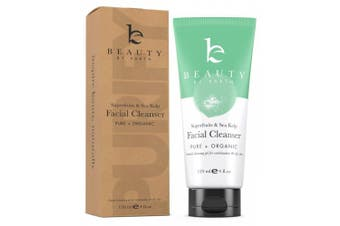 (120ml) - Face Wash - Cleanser Made with Organic & Natural Vegan Ingredients for Gentle Cleansing of Oily, Acne Prone or Combo Skin - Invigorating Soap and Works with Facial Brush, Best for Men, Women & Teens