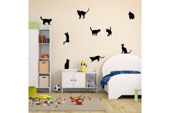 Amaonm® Removable DIY Cute Cartoon Black Cat Wall Decor Kids room Wall Sticker Lovly Playing Cat Wall Decals Peel Stick FOR Girls Children Bedroom Classroom Nursery Room Wall Corner (30*57cm)