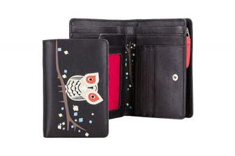 Visconti OL-71 OWL Collection Soft Genuine Leather Womens Wallet / Purse / Clutch